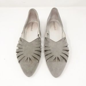 Jeffrey Campbell Suede Grey Slip Ons Flats 7.5